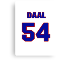 National baseball player Omar Daal jersey 54 Canvas Print