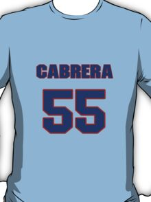 National baseball player Alberto Cabrera jersey 55 T-Shirt