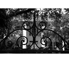 Hasell Street Gate #1, Charleston, SC Photographic Print