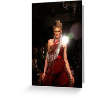 dizingof catwalk Greeting Card