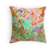 HAND DRAWN PSYCHEDELIC abstract  Throw Pillow