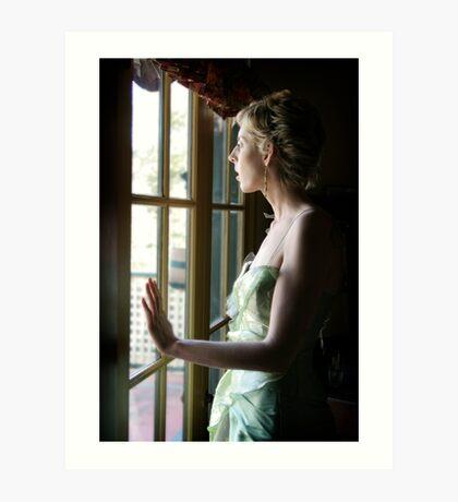 A new beginning awaits me behind these glass doors Art Print