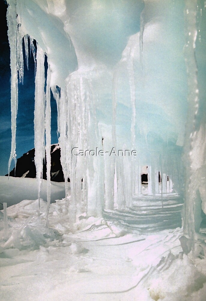 Ice Cave in Blue & White by Carole-Anne