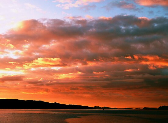 Amber Sunset by Gail Bridger