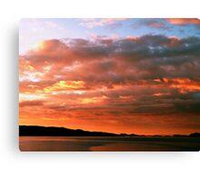 Amber Sunset Canvas Print