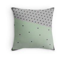 MODERN green and grey, abstract decor Throw Pillow