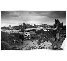 Observatory Park View Of North Sydney BW Poster
