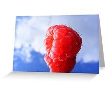 rasberry sky Greeting Card
