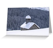 House in the Snow Greeting Card