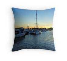 Cunningham Arm at Lakes Entrance Throw Pillow