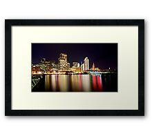 San Francisco Embarcadero in December Framed Print