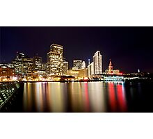 San Francisco Embarcadero in December Photographic Print