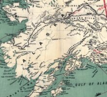 ALASKA GOLD RUSH SURVIVAL MAP/GUIDE  1897 Sticker