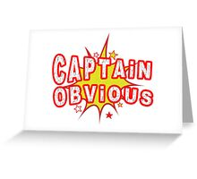 Captain Obvious Funny Geek Nerd Greeting Card