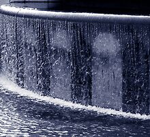Duotone of a water fountain by NKSharp