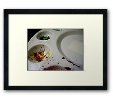 Dried Paint Framed Print