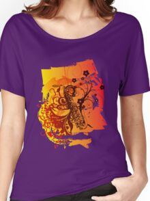 Retro Abstract Sax Women's Relaxed Fit T-Shirt