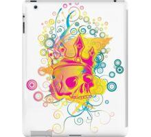Retro rainbow skull iPad Case/Skin