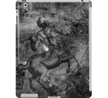 When The Stars Are Right - The Lambda Centauri Nebula in Centaurus (black & white version) iPad Case/Skin