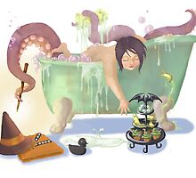 Bath time with Luci by Cecile Haynes