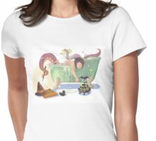 Bath time with Luci Womens Fitted T-Shirt