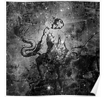 When The Stars Are Right - The Eagle Nebula in Serpens (black & white version) Poster