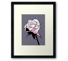 Pink Rosebud Cartoon Framed Print