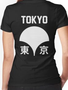 Japanese Cities: Tōkyō Women's Fitted V-Neck T-Shirt