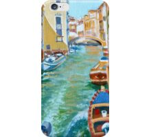 Venetian Commuter on a sunny canal iPhone Case/Skin
