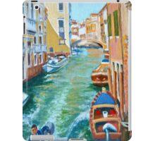 Venetian Commuter on a sunny canal iPad Case/Skin
