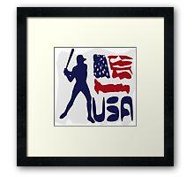 USA Baseball Framed Print