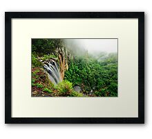 Atop the Falls... Framed Print