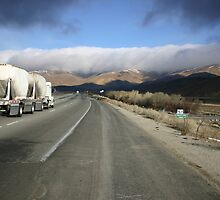 Lonely Truck on the road by Lingesh