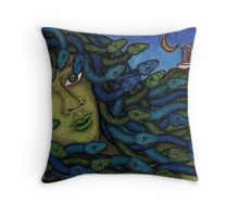 Madusa Throw Pillow