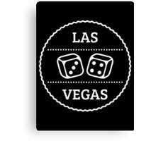 Las Vegas Patch (Nevada / White) Canvas Print