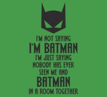 I'm Not Batman Kids Clothes