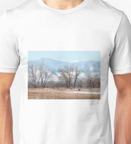 Deer in a Meadow Unisex T-Shirt
