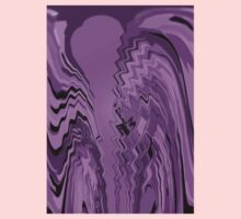 Lavender Purple Violet Abstract Flowing Design  One Piece - Short Sleeve