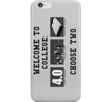 COLLEGE ADVICE  iPhone Case/Skin