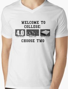 COLLEGE ADVICE  Mens V-Neck T-Shirt