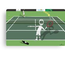 Corky's playing tennis Canvas Print
