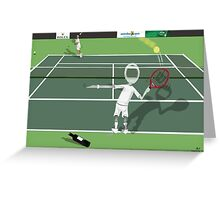 Corky's playing tennis Greeting Card