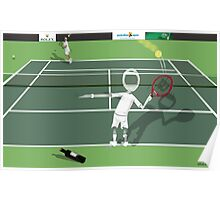 Corky's playing tennis Poster