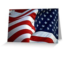 American Flag - Billowing Greeting Card