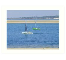 yhats on the inlet Art Print