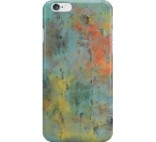 """Square vintage Abstract painting landscape painting, mid century canvas art """"Best place on earth"""" - 37x37 inches , free shipping iPhone Case/Skin"""