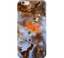 Cruiser/fighter passing through a time warp - all products iPhone Case/Skin