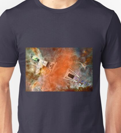 Cruiser/fighter passing through a time warp - all products Unisex T-Shirt