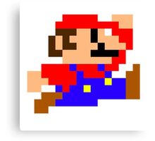 Super Mario - Pixel - Retro Games Canvas Print