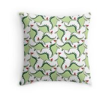 Bobble Hat Dinosaurs Throw Pillow